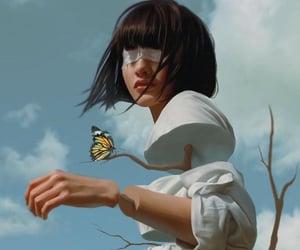 art, illustration, and blue image