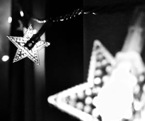 black and white, fairy lights, and pretty image
