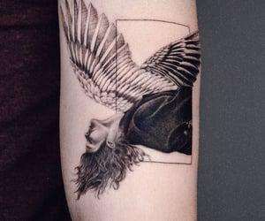 angel, arm, and artwork image