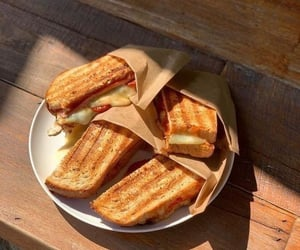 food, grilled, and sandwich image