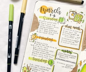 bujo, bullet journal, and weekly spread image
