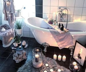 aesthetic, candles, and tub image