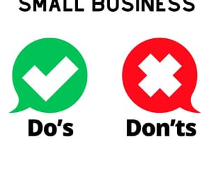 small business, small business owners, and business tips image