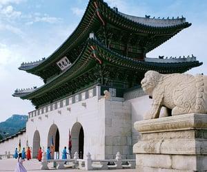blue sky, historical, and korea image