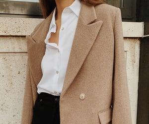 coat, elegant, and fashion image