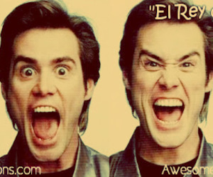 carrey, crazy, and eyes image