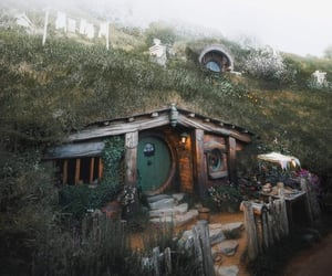 hobbit, house, and nature image
