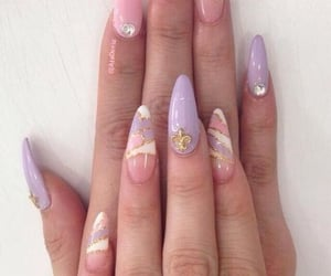 stiletto nailart&ring image