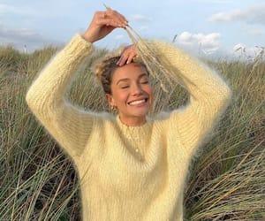 girl, nature, and yellow image