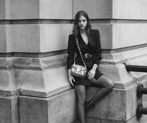 black & white, fashion, and barbara palvin image