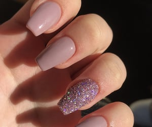 glitter, glittery, and nails image