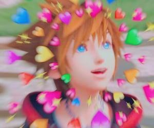 kingdom hearts, playstation, and sora image