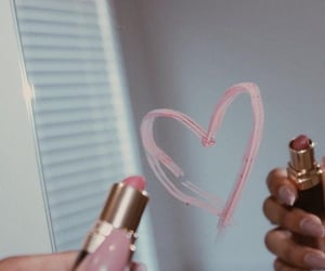 aesthetic, lipstick, and heart image