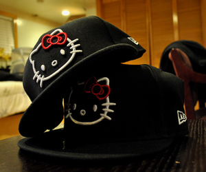 hello kitty, hat, and cap image