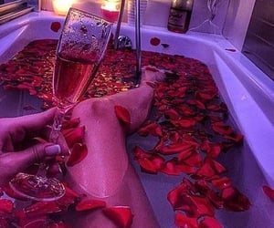 rose, bath, and relax image