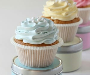 cupcakes, drink, and food image