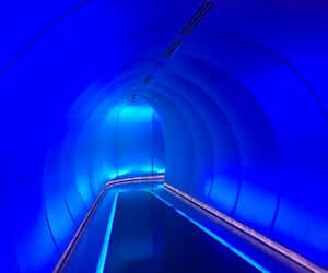 aesthetic, blue, and blue light image