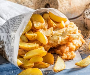britain, delicious, and fish and chips image