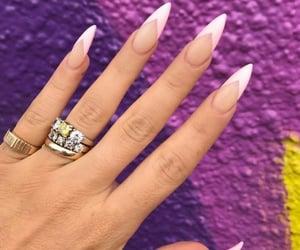 nails, girl, and gel nails image