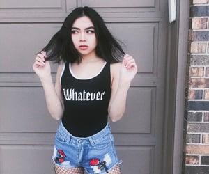 aesthetic, bad girl, and gray image