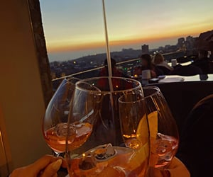 Cocktails, dinner, and evening image