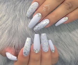 nails, white, and beauty image