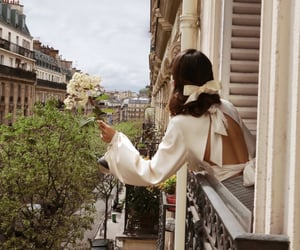 flowers, paris, and fashion image
