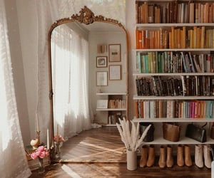 books, home, and aesthetic image