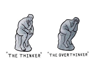 depressing, mind, and think image