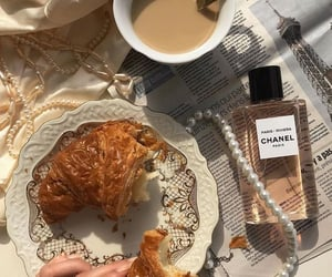 chanel, coffee, and croissant image
