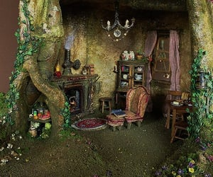 fairy house, dolls house, and faery image