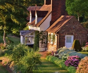 cottage, flowers, and house image