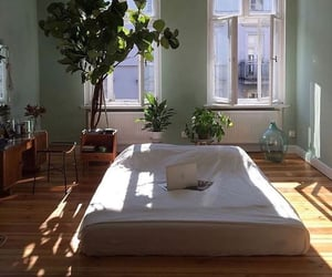 architecture, bedroom idea, and flowers image
