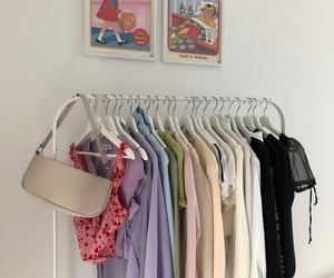 clothes, clothing rack, and cute clothes image