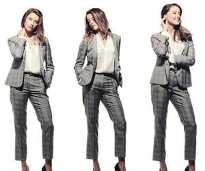 amber heard, fashion, and grey image