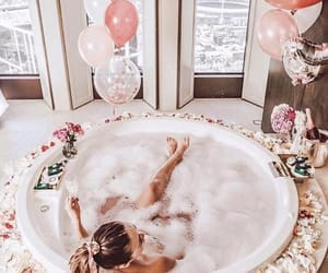 aesthetic, bathrooms, and rose image