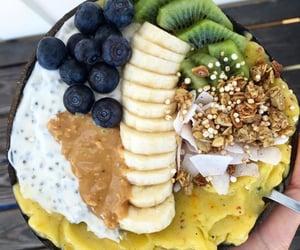banana, bowl, and fit image