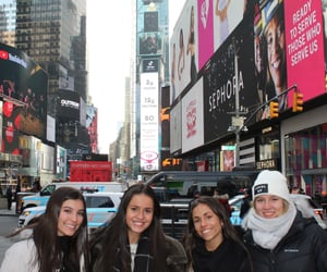 ny, times square, and friends image