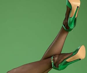 aesthetic, green, and high heels image