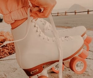 retro, vintage, and rollerskates image
