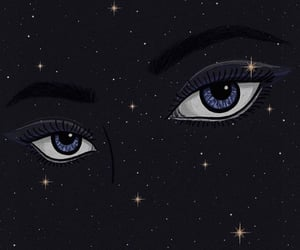 art, astronomy, and blue eyes image