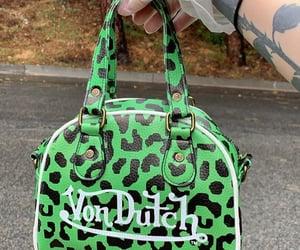 bag, cheetah, and green image
