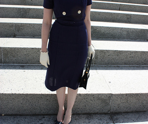 buttons, dress, and fashion image