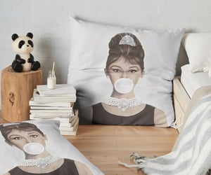 audrey hepburn, redbubble art, and home decor image
