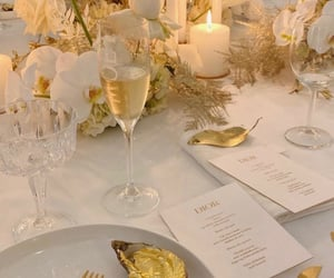 gold, dinner, and luxury image