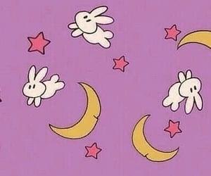kawaii, lovely, and moon image