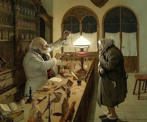 apothecary, beard, and elderly image