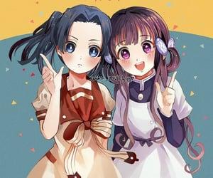 anime, aoi, and kimetsu no yaiba image