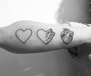 art, heart, and tattoo image