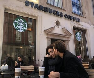 couple, aesthetic, and coffee image
